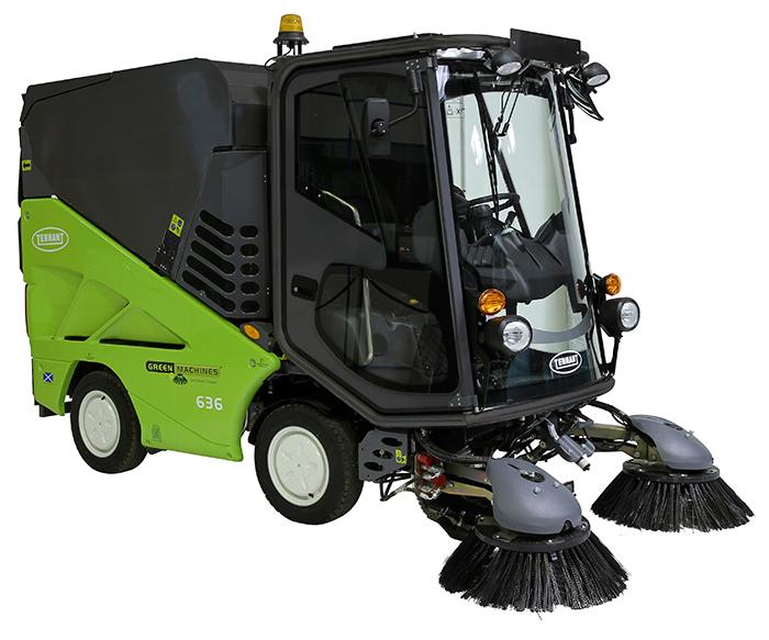 Tennant Greenmachine 636 (Diesel) Ride on City Sweeper