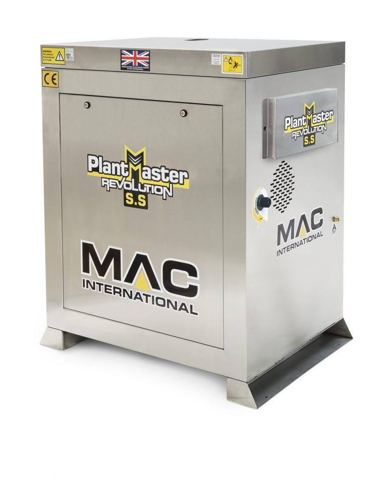 MAC Plantmaster Revolution Stainless Steel 11/120 (240v) Hot Water Pressure Washer