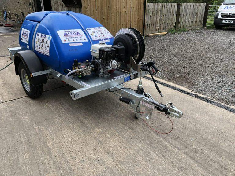 Trailer Mounted, Engine Driven, Cold Pressure Washer With Bowser
