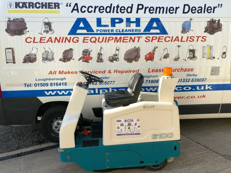Ex- Hire Tennant 6100 (Battery) Ride on Floor Sweeper
