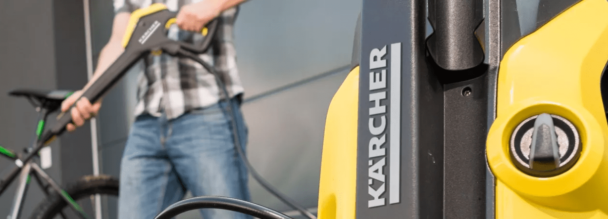 How Do Pressure Washers Work? Karcher Pressure Washer Close Up Photo
