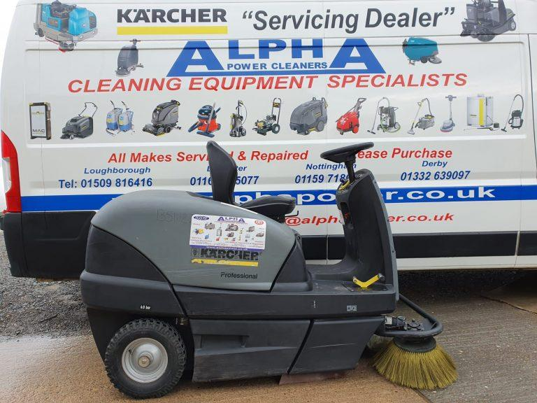 Ex-Hire Karcher KM 100/100 R Bp Ride on Floor Sweeper