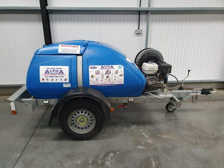 Ex-Hire 1100L 21/200 Trailer Petrol Cold Water Pressure Washer